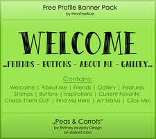 Free Banner Pack :: Peas'n'Carrots (black|white) by HinaTheBlue