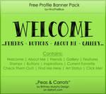 Free Banner Pack :: Peas'n'Carrots (black white)