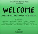 Free Banner Pack :: Xo (black|white)
