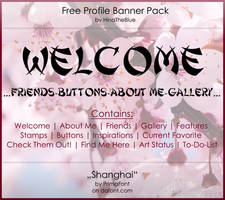 Free Banner Pack :: Shanghai (black|white) by HinaTheBlue