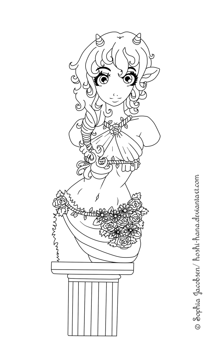 Free to colour: Grecian Vidya Sculpture by Hoshi-Hana