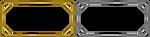 Free Pixel gold + Silver frames V.1 by Hoshi-Hana