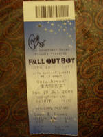 Signed Fall Out Boy Ticket by neonic923