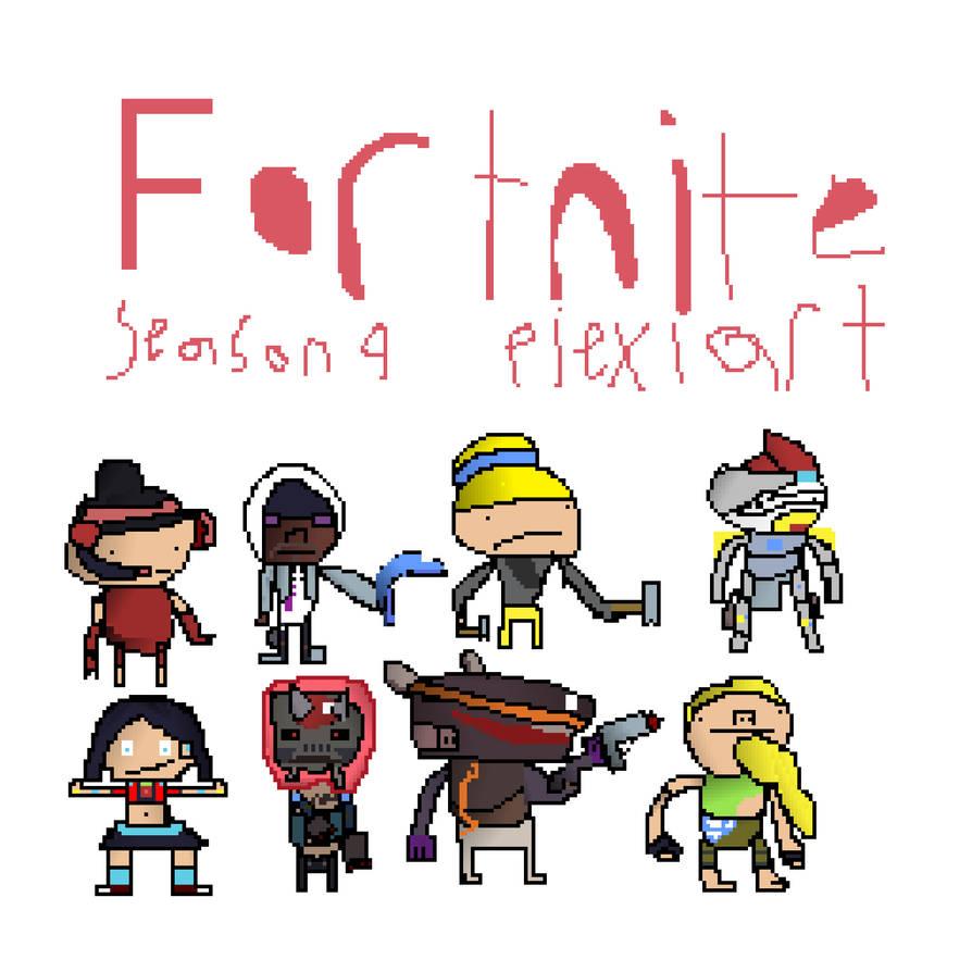 Fortnite Pixel Guns Credi Kyleigh S Stuff Pixel Art Art Drawings