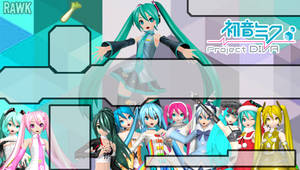 Hatsune Miku Project Diva (PSP Background) by Rawk-Klark