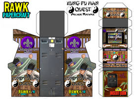 Kung Fu Man Quest Arcade Machine (Papercraft) by Rawk-Klark