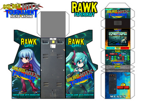 Golden Mix Tournament Arcade Machine (Papercraft) by Rawk-Klark