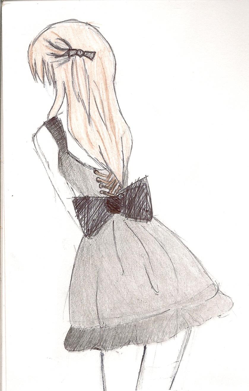 How To Draw Anime Girl Dress black dress turned ani...