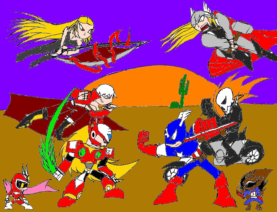 Marvel vs Capcom 3- Desert Battle by Thesimpleartist4