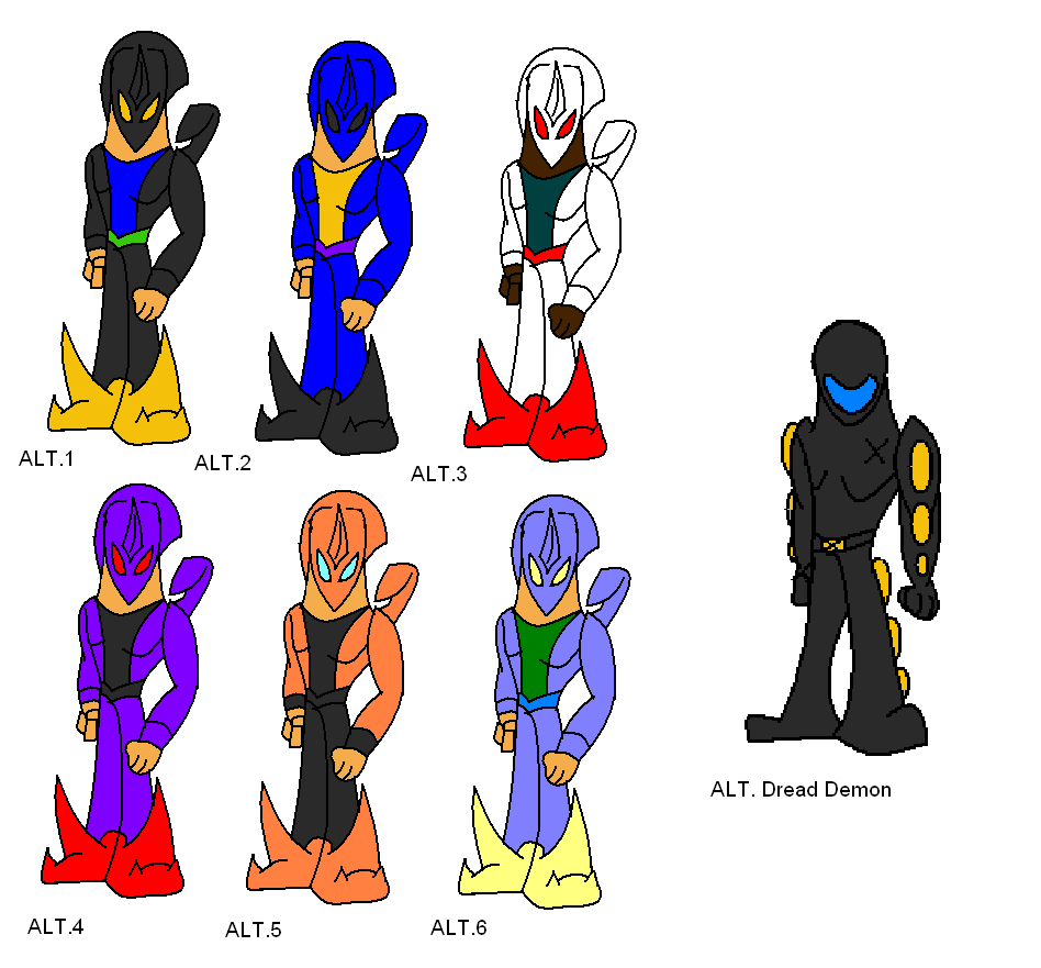 Dimension Wars Alpha Demon Alt Costumes by Thesimpleartist4