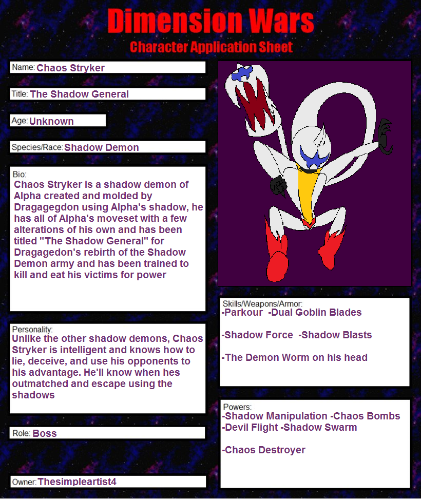 DW Chaos Stryker Sheet by Thesimpleartist4