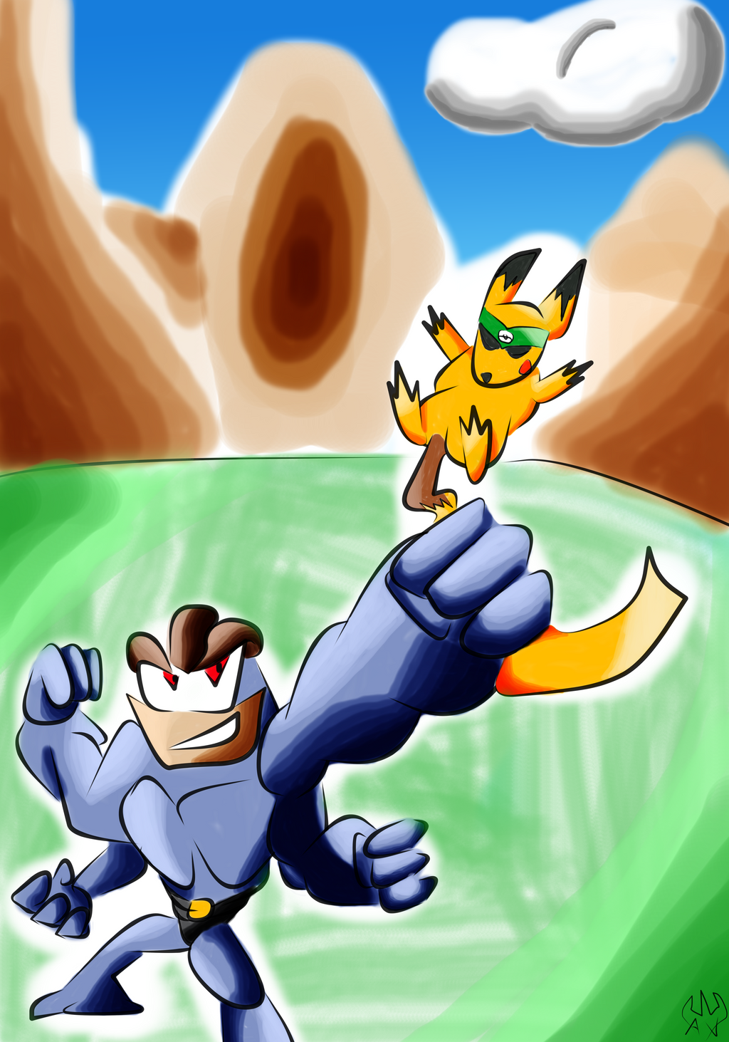 TSA4 Pokemon Adventure- Pokken by Thesimpleartist4