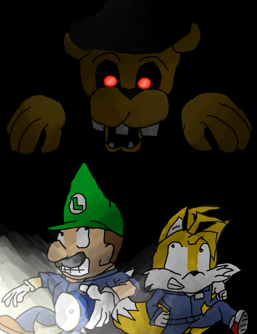 Luigi and tails in fnaf by thesimpleartist4 on deviantart