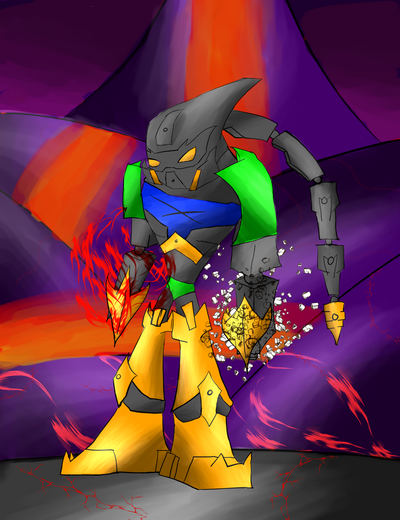 Bionicle Alpha Demon by Thesimpleartist4