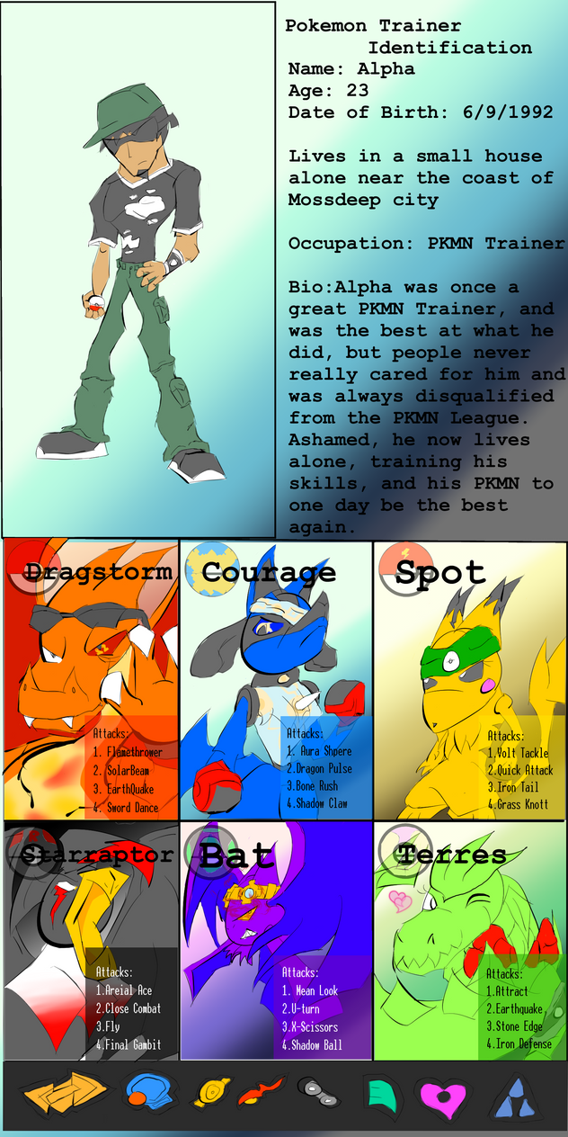 Alpha Pokemon Trainer Card by Thesimpleartist4