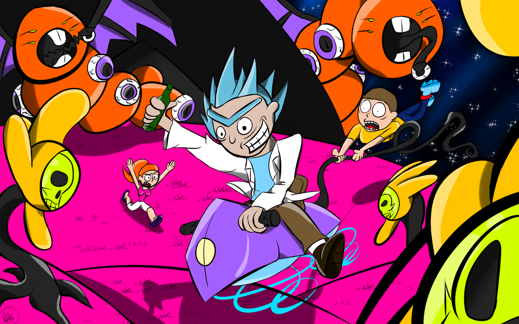 Rick and Morty Contest entry by Thesimpleartist4