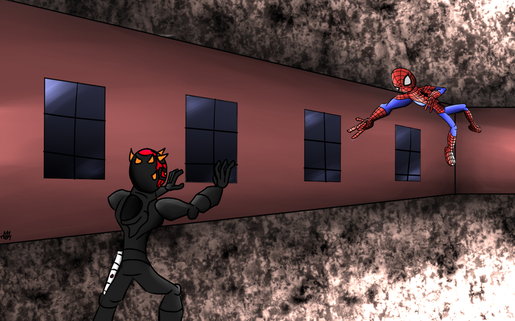 Darth Maul vs Spiderman by Thesimpleartist4