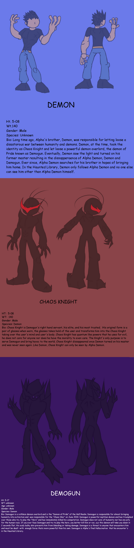 Alpha Demons' Hallucination Ref by Thesimpleartist4