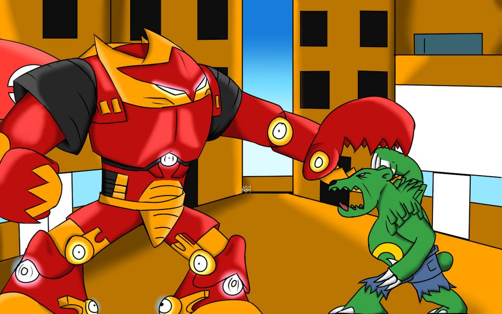 Hulk vs Hulkbuster Pokemon version by Thesimpleartist4