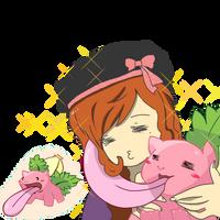Sunny likes her lickiysaur~
