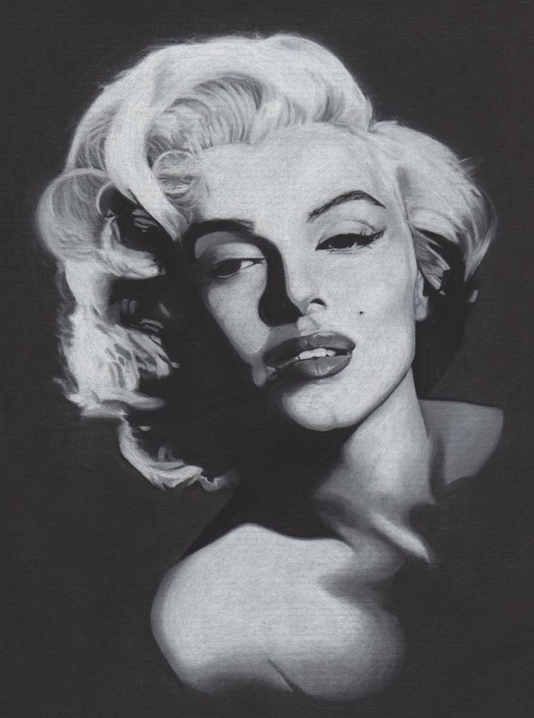 My Marilyn 'White Charcoal' by AKiHiK0 on DeviantArt