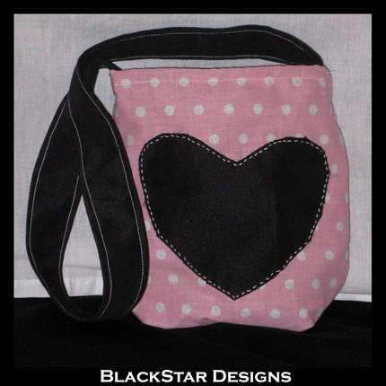 Pink Polka Dot Lolita Bag by BlackStarDesigns