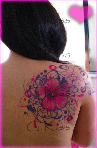 Hibiscus Tattoo Concept Art by