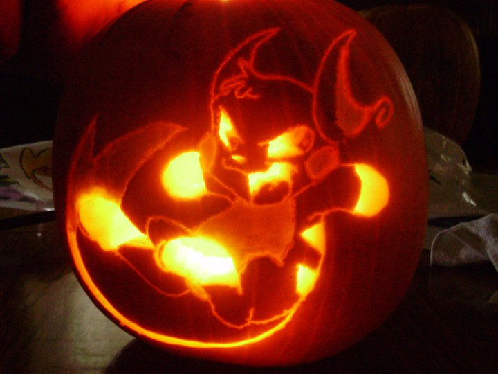 Pokemon Pumkin Carving ~Raichu by Yuniiku-chan