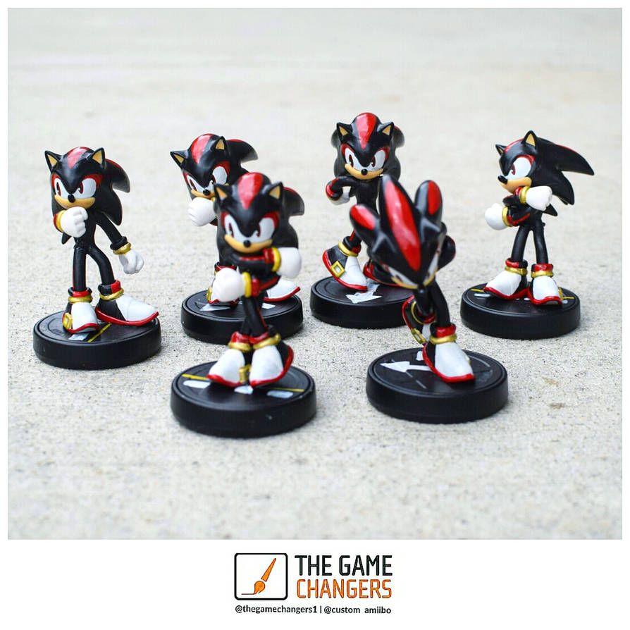 Shadow The Hedgehog Custom Amiibo By Thegamechangers On Deviantart