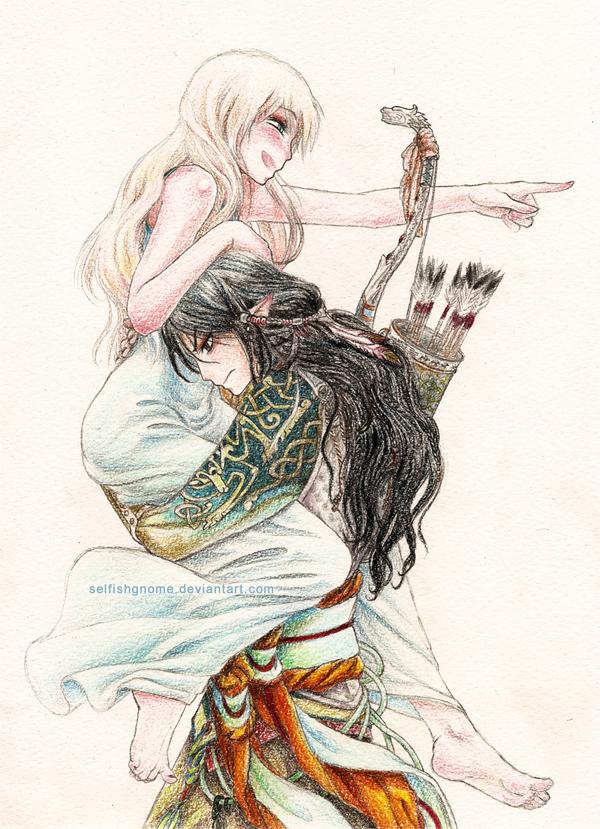 Aeryn and Deogol by Adorael