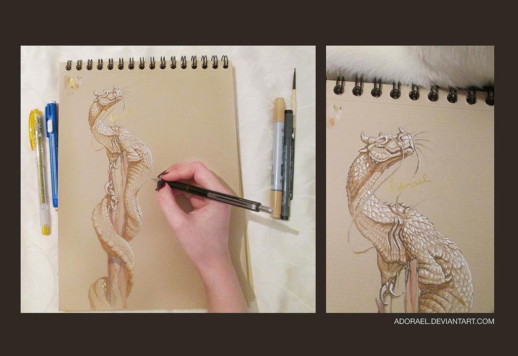 Dragon 1 - Linnorm by Adorael