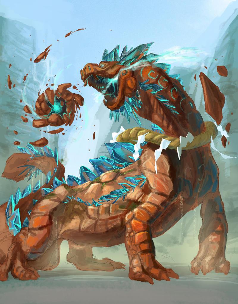 Sacred Stone Dragon -Outcast Odyssey contest entry by Adorael
