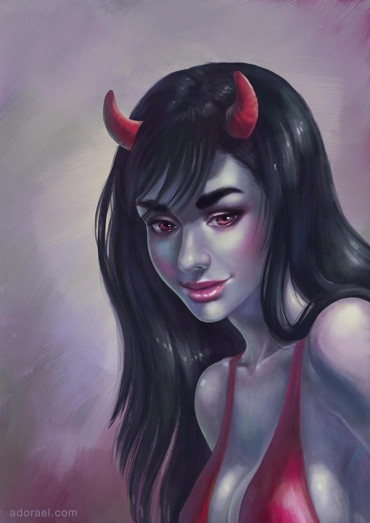 Demon girl by Adorael