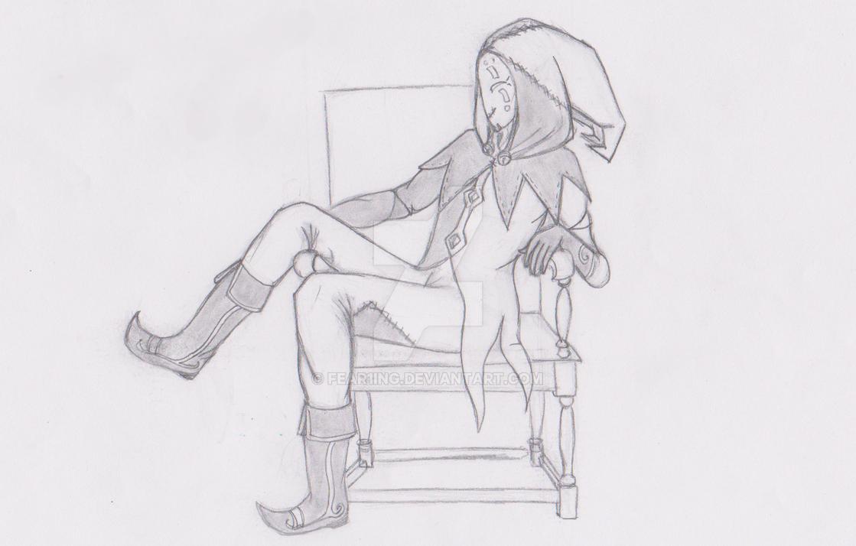 Sketch: The Masked Fool by Samadra