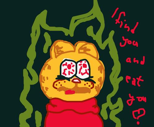 Cursed Garfield By Depresiveneko On Deviantart