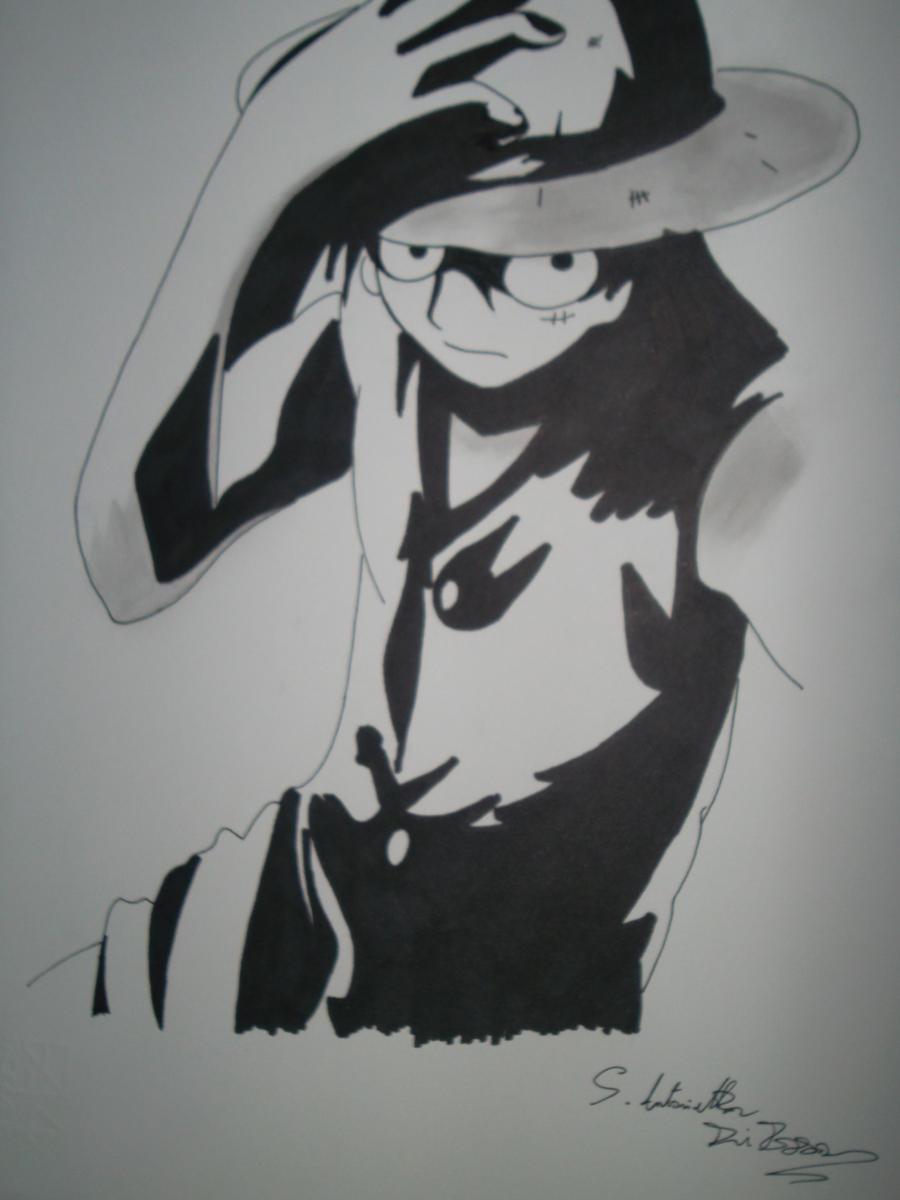 Image Gallery Luffy Black