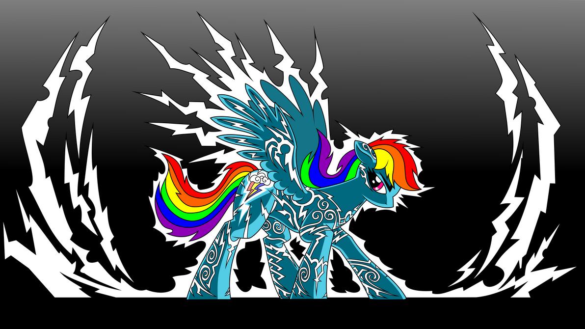 Rainbow Dash, Lightning Rider vectorized by icewindow