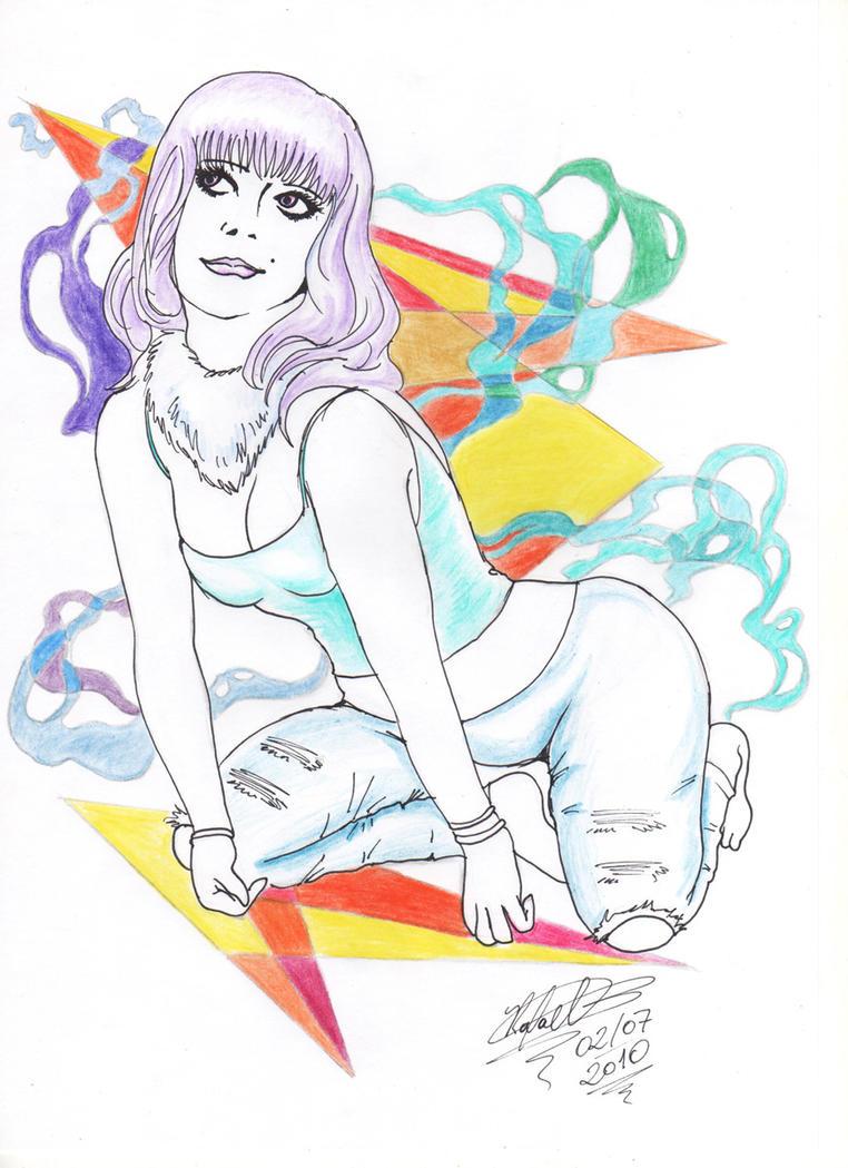Lady in Geometric Land by rafabersi