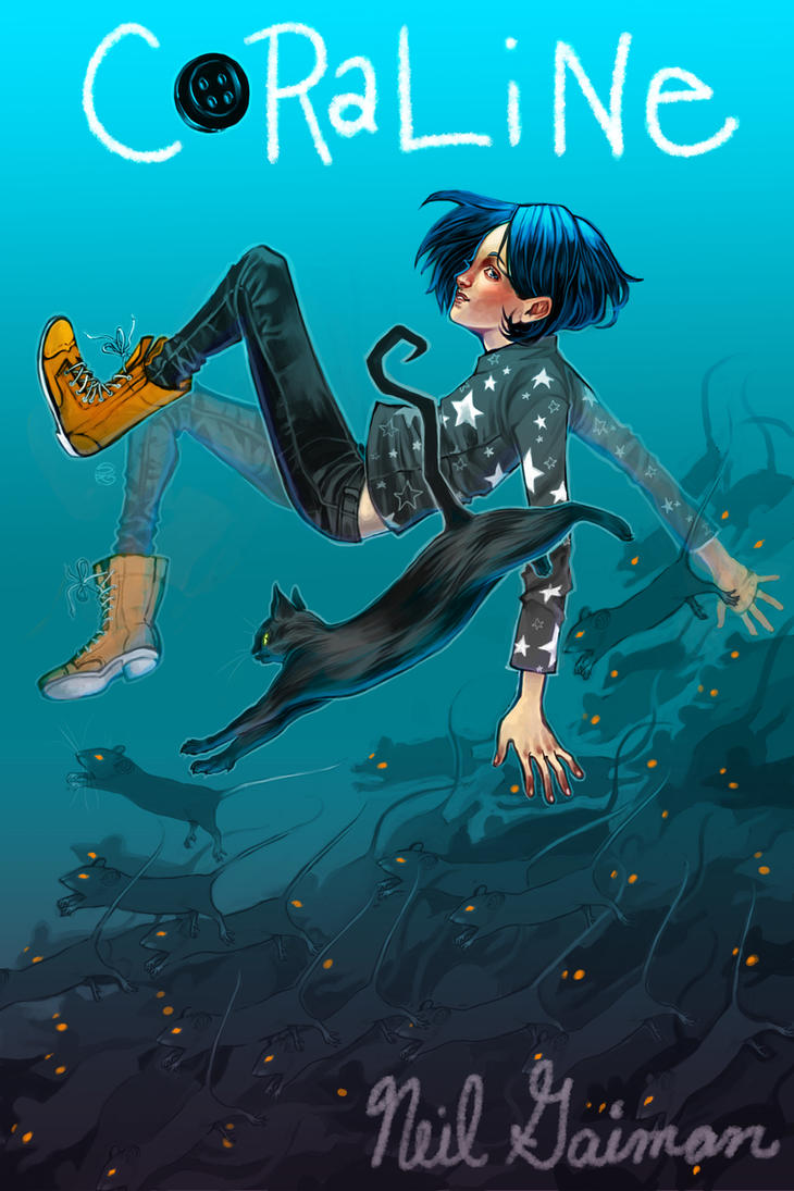 Book Cover Art Submissions : Coraline by herringbonnes on deviantart