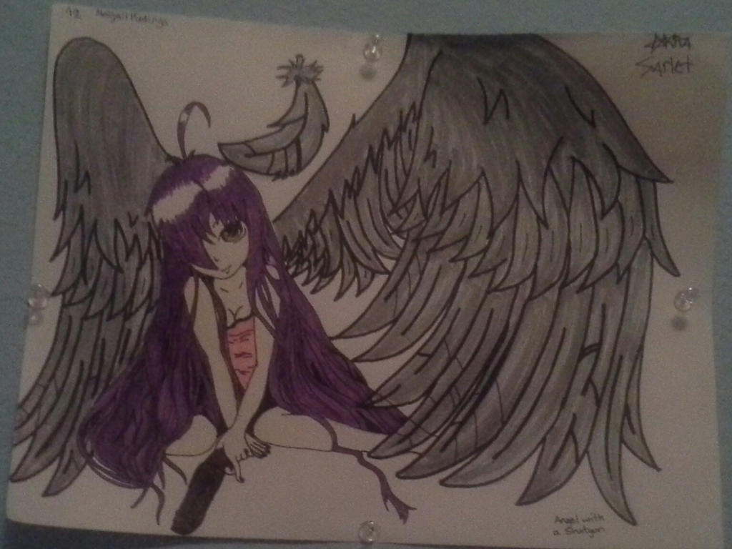 Anime angel with a shotgun angel with a shotgun by
