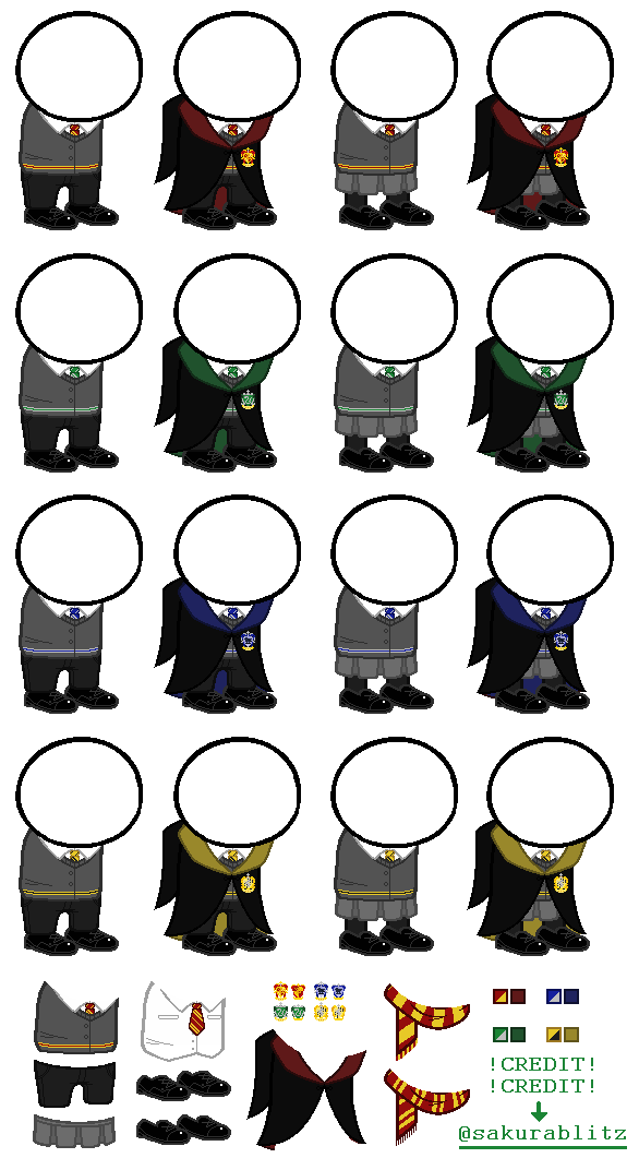 base - hogwarts uniforms by sakurablitz