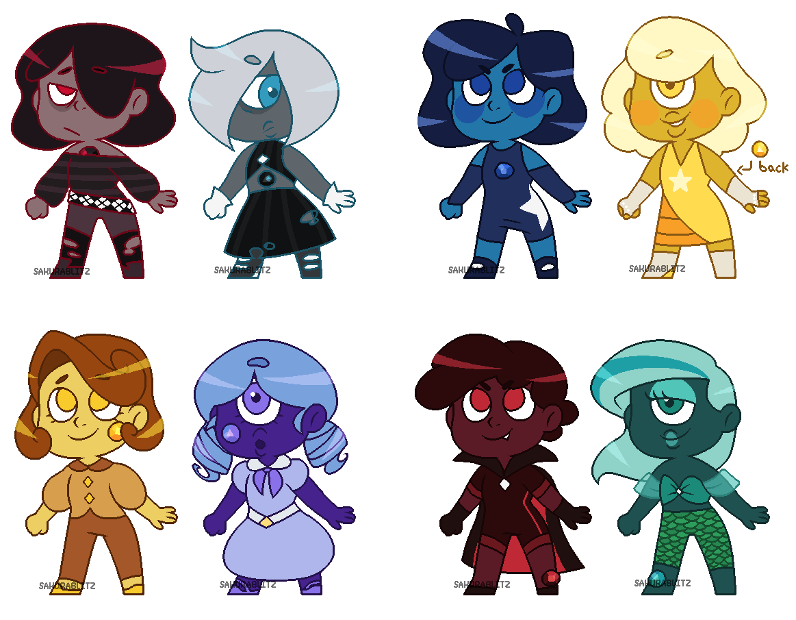 adopts - rubies and sapphires II [CLOSED] by sakurablitz