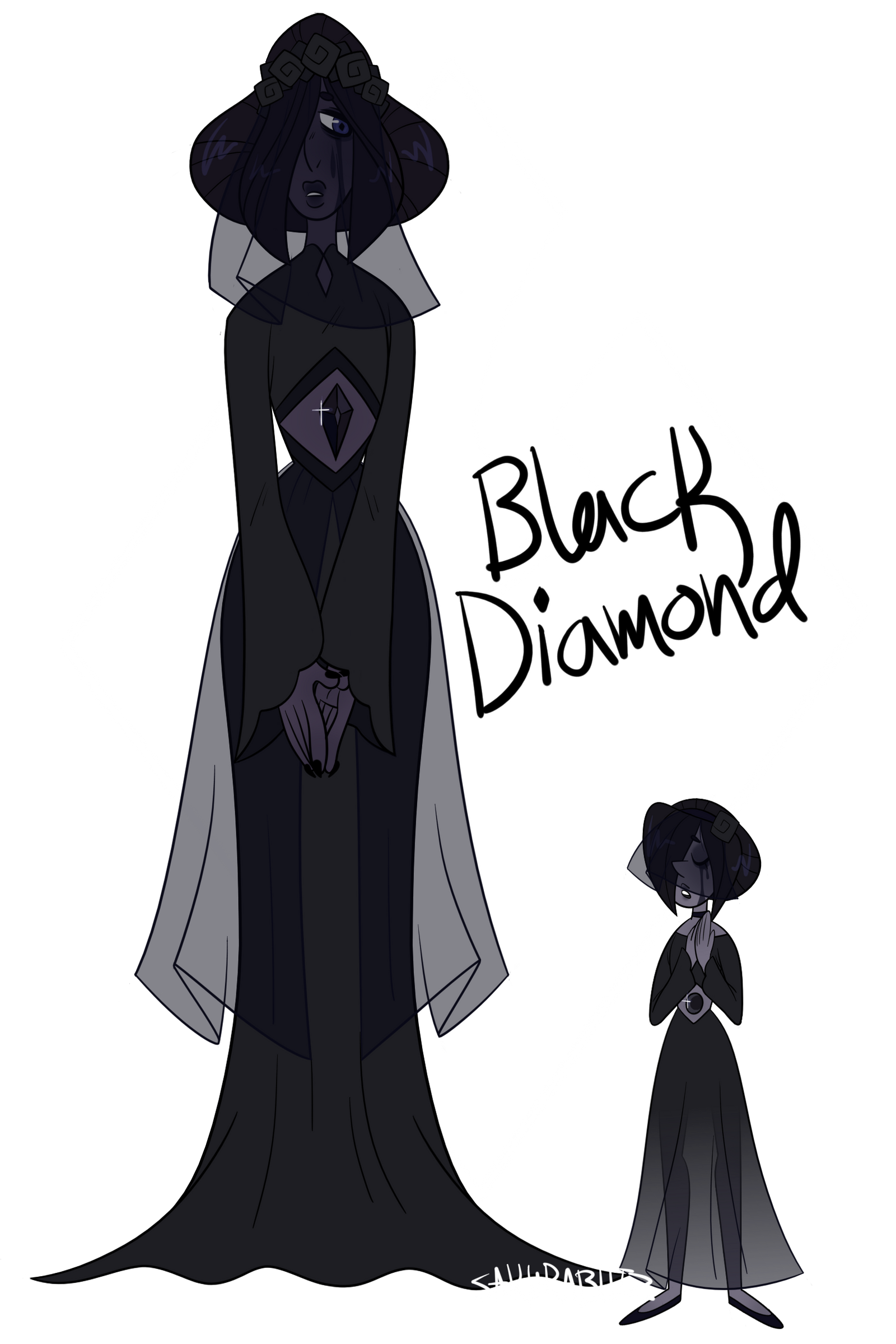 ref - black diamond and her pearl by sakurablitz