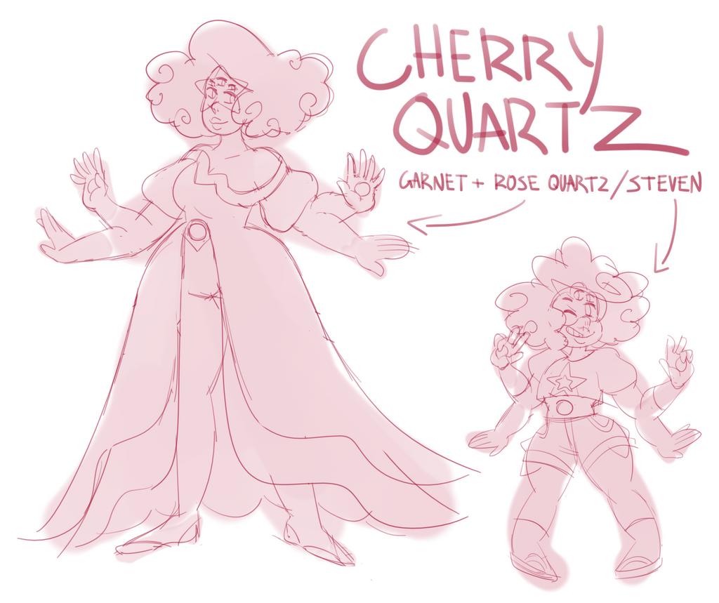cherry quartz (garnet + rose quartz/steven) by sakurablitz