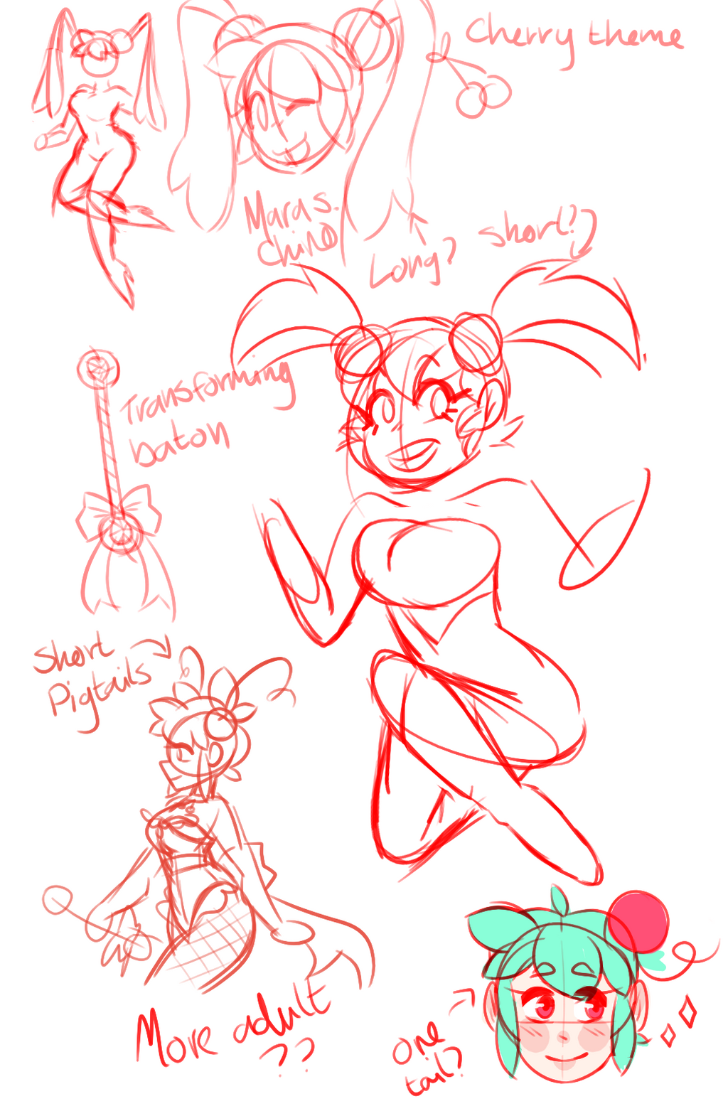 cherry magical girl concept by sakurablitz