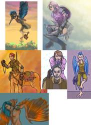 MGC and Fanart doodle dump by LunaticStar