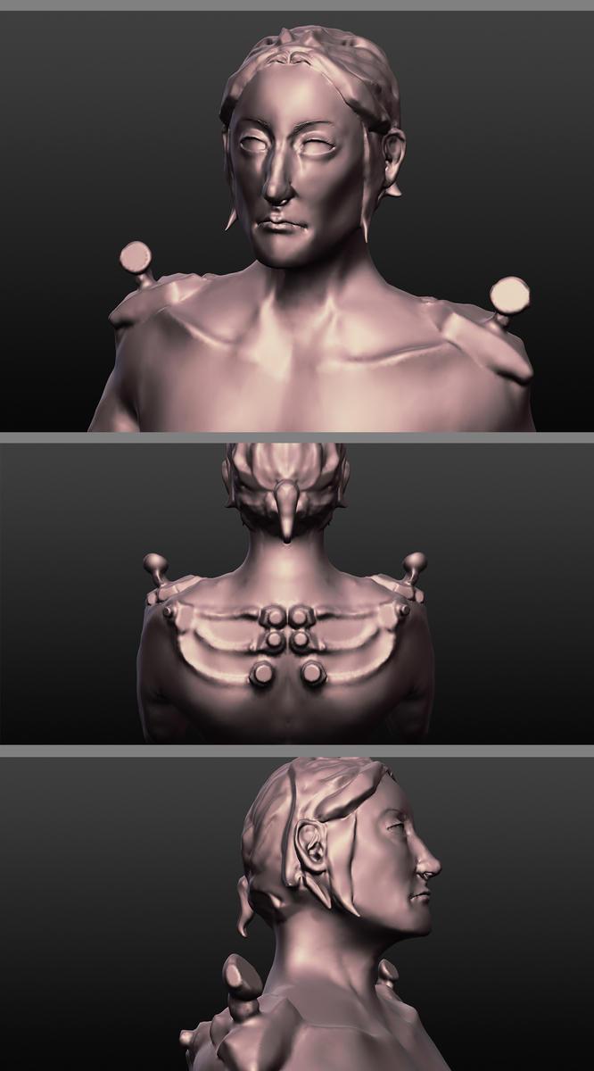 Cameron sculpt by LunaticStar