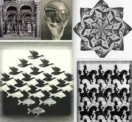 Escher Collage by Harken-My-Love