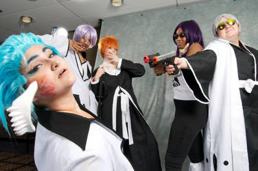 You shot me! :Grimmjow 2: by Pandas-and-Pocky
