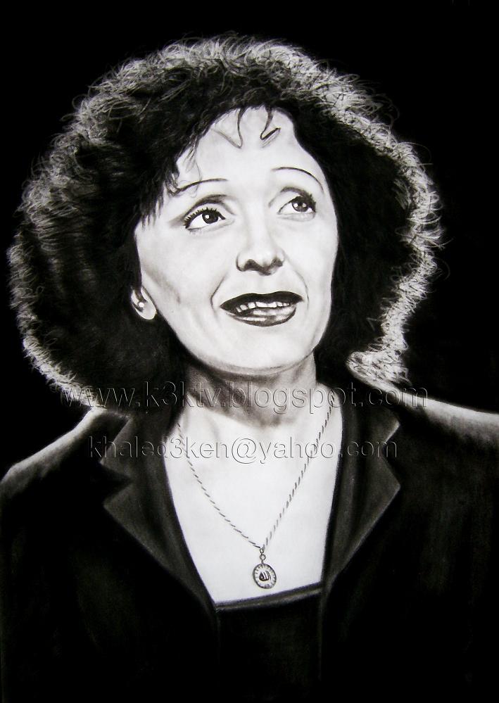 Edith Piaf Child Portrait Drawing Edith Piaf